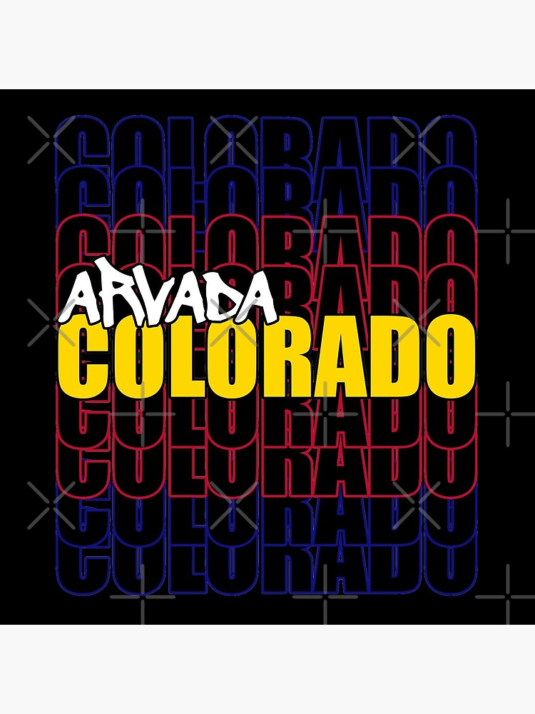 Arvada Colorado State Flag Typography by that5280lady