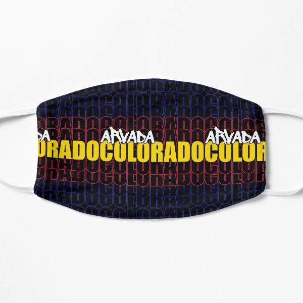 Arvada Colorado State Flag Typography Flat Mask