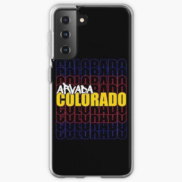 Arvada Colorado State Flag Typography Samsung Galaxy Soft Case