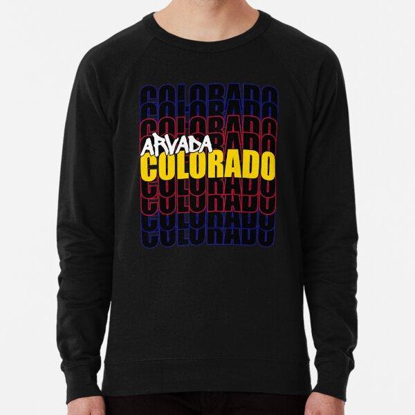 Arvada Colorado State Flag Typography Lightweight Sweatshirt