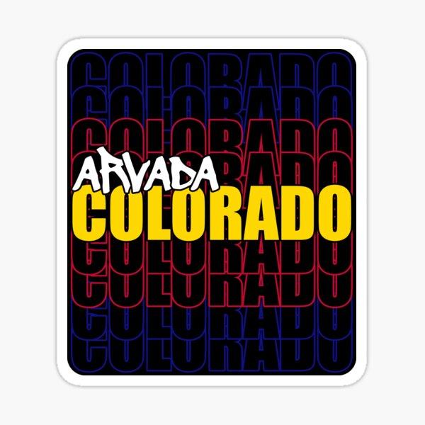 Arvada Colorado State Flag Typography Sticker