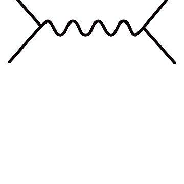 Feynman Diagram - Black by Weedlogger
