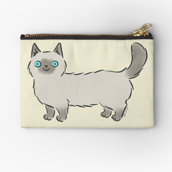 Bright Eyed Siamese Munchkin Kitty Cat Zipper Pouch