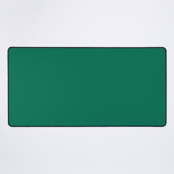 Designer Fall Color Trends 2016 - Lush Meadow Green Solid Color Desk Mat