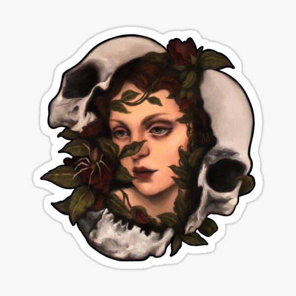 Wiederaufleben 1 Dunkles surreales Porträt Sticker