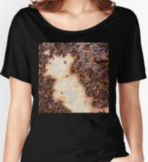 Cool brown rusty metal texture Women's Relaxed Fit T-Shirt