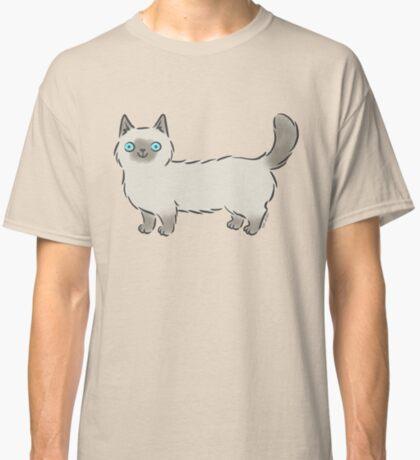 Bright Eyed Siamese Munchkin Kitty Cat Classic T-Shirt