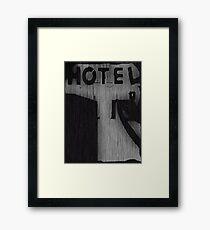 Hotel Silhouette Framed Print