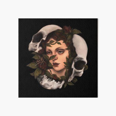 Resurgence 1 Dark Surreal Portrait Skull Oil Painting Art Board Print