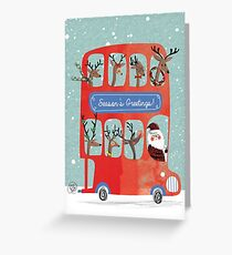 Santa's Bus Greeting Card
