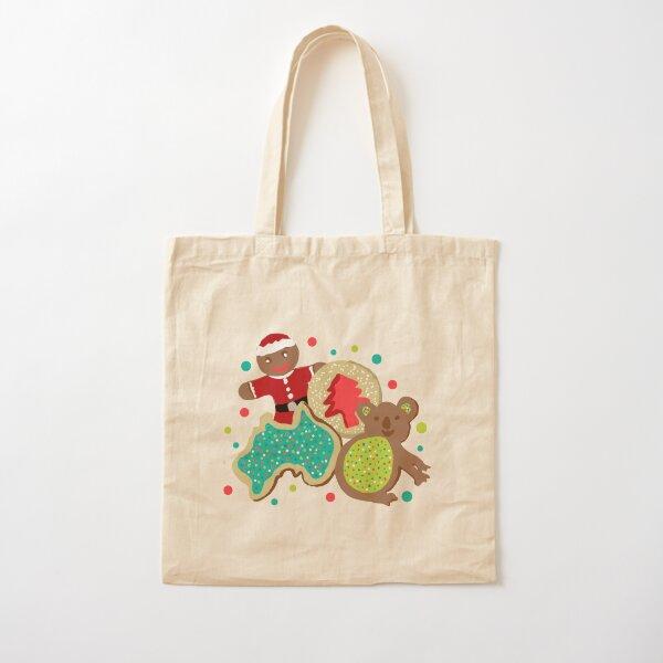 Christmas cookies with Koala, gingerbread man, Australia shape and christmas tree Cotton Tote Bag