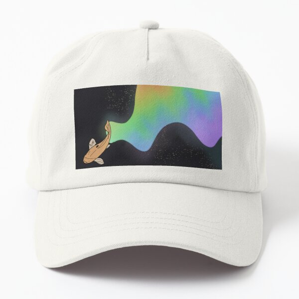 Rainbow Koi Swimming in Space Dad Hat