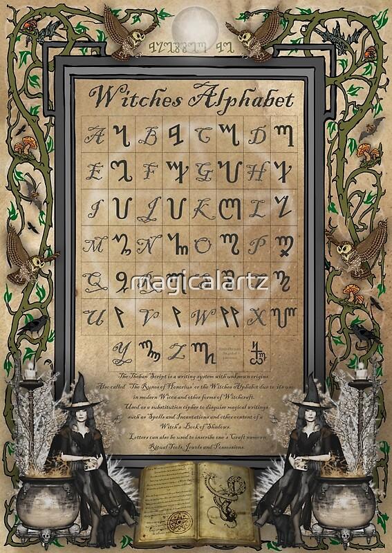 Quot Witches Alphabet Quot Canvas Prints By Magicalartz Redbubble