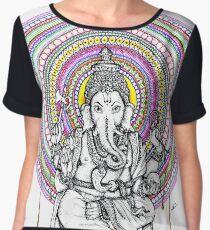 Elephant Shiva Women's Chiffon Top