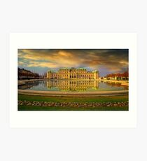 Upper Belvedere in late afternoon Art Print