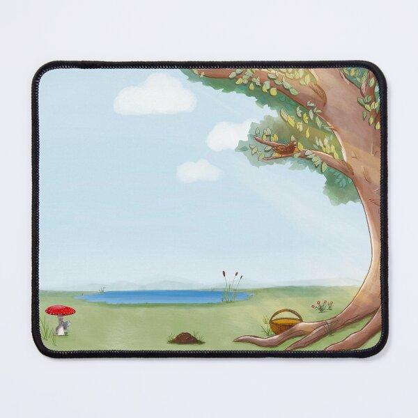 Baum, Sonne und See  Mauspad