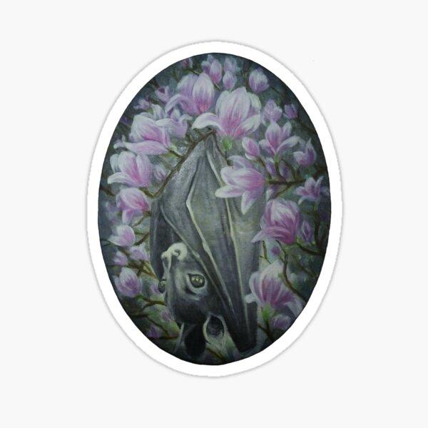 Bat Among Magnolias Sticker