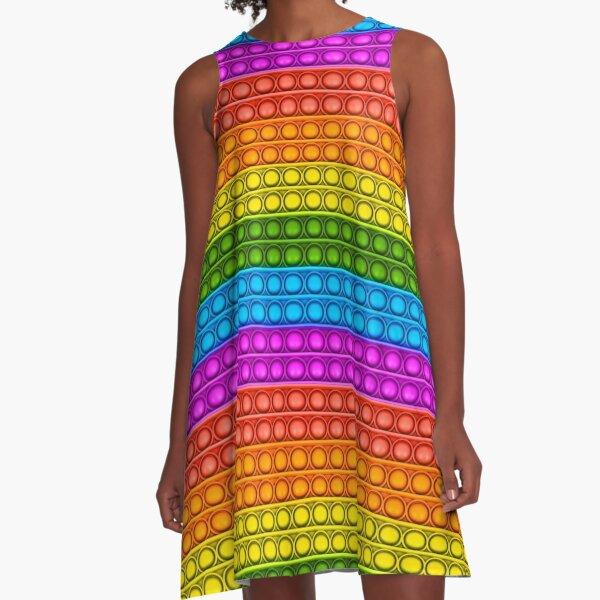 Pop it - multicolored A-Line Dress