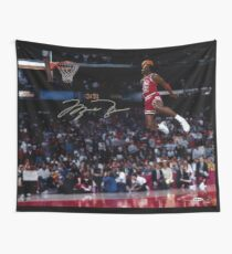 Michael Jordan Slam Dunk 2 Wall Tapestry