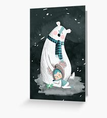Polar Bear Hug Greeting Card