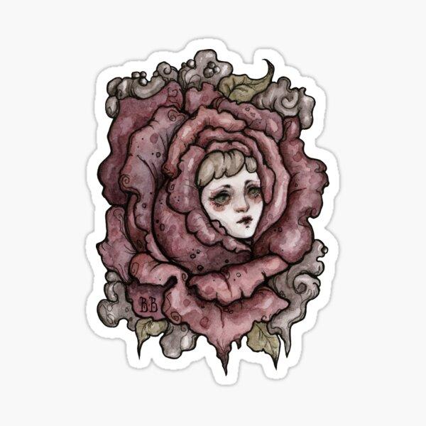 Flower Face Girl 1 Sticker