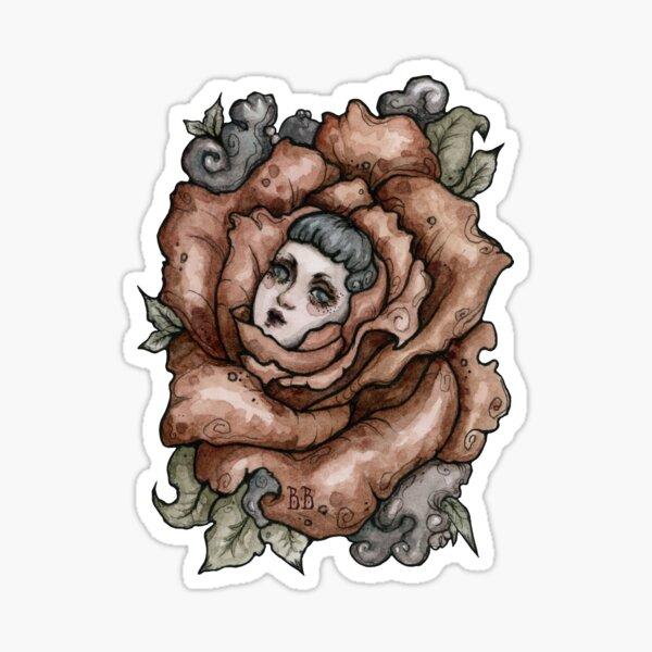 Blumengesichtsmädchen 2 Sticker