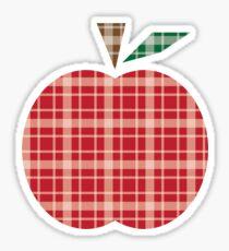 Plaid Apple. Sticker