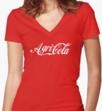 Agricola Women's Fitted V-Neck T-Shirt