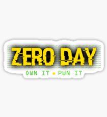 0day - own it, pwn it Sticker