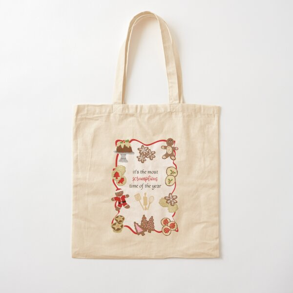 It's the most scrumptious time of the year - christmas cookie shapes - baking - iced biscuits - festive baking Cotton Tote Bag