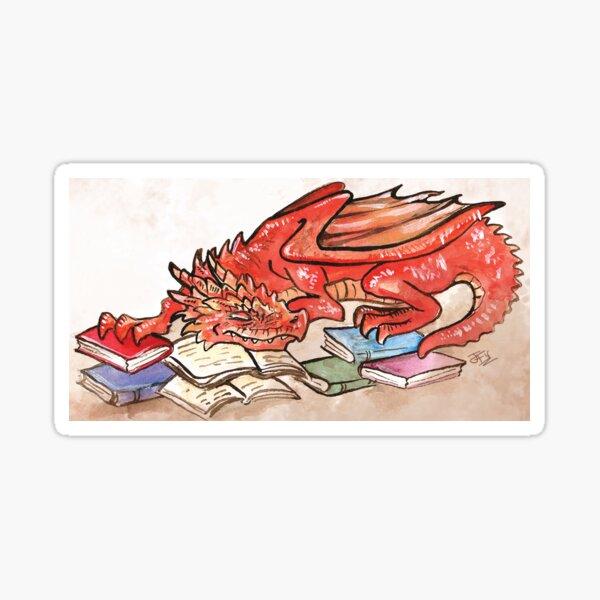 Red BookWyrm Sticker