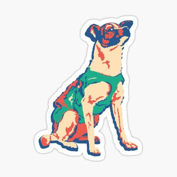 Laika Space Dog Vector Russian Propaganda Pup Retro Old-Timey Vintage Sticker