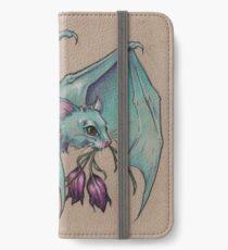 Little Blue Bat bearing Gifts iPhone Wallet