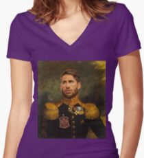 Don Sergio Ramos Women's Fitted V-Neck T-Shirt