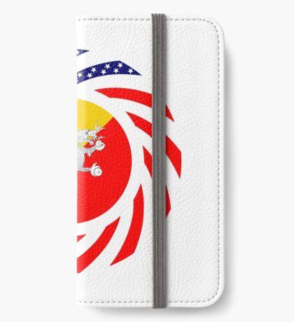 Bhutanese American Multinational Patriot Flag Series iPhone Wallet