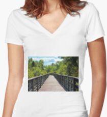 Boardwalk Trail Women's Fitted V-Neck T-Shirt
