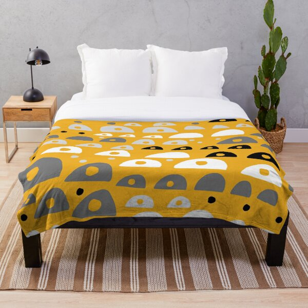 Abstract design yellow trend deco Throw Blanket