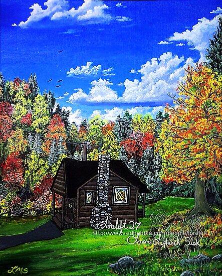 autumn cabin by LoreLeft27