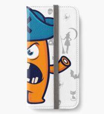 Lustiges Monster iPhone Flip-Case/Hülle/Skin