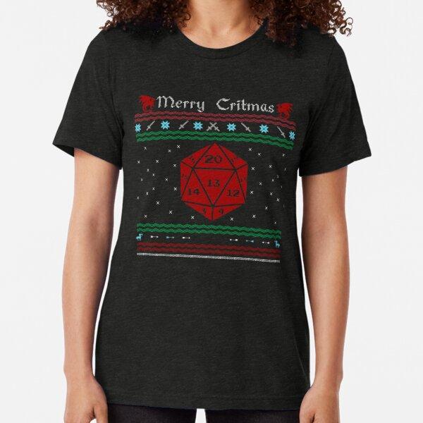 D20 - Merry Critmas  Tri-blend T-Shirt
