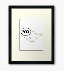 Star Wars Yoda Parody  Framed Print