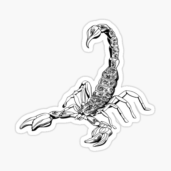 Scorpion Noir Sticker