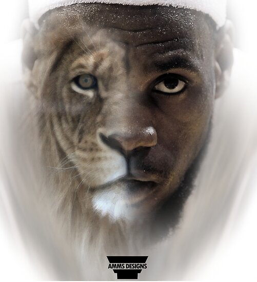 lebron james lion design posters by ammsdesigns redbubble