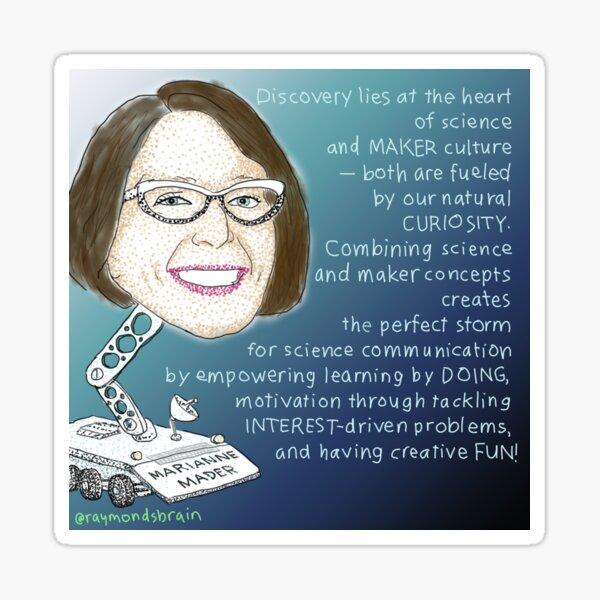#SciComm100: Marianne Mader Sticker