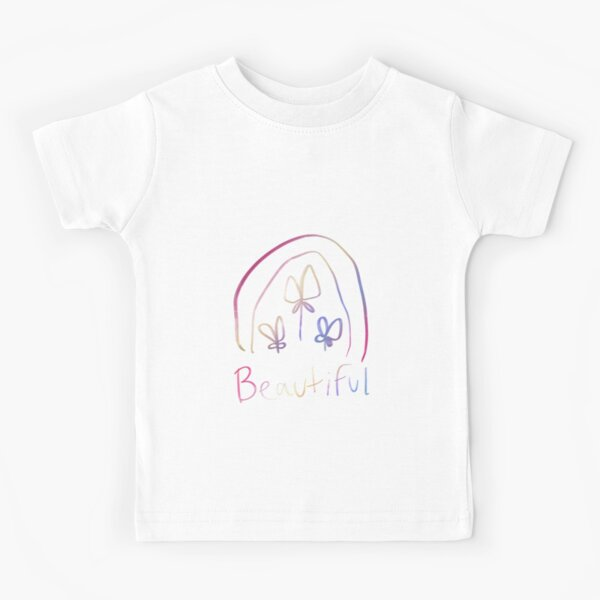 Four-Leaf Clover, Beautiful Shimmering Rainbow Kids T-Shirt