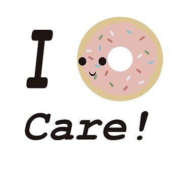I donut care! Pink glaze donut by Eggtooth