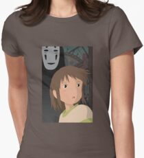 """""""Don't be such a scaredy cat, Chihiro"""" - Spirited Away Art Womens Fitted T-Shirt"""