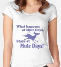 Mule Day Women's Fitted Scoop T-Shirt