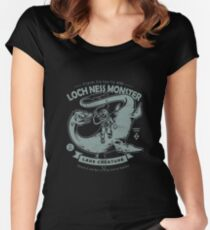 Lochness Monster - Cryptids Club Case file #200 Women's Fitted Scoop T-Shirt
