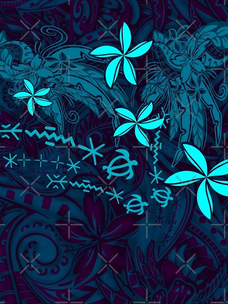 Polynesian Tribal Tropical Abstract by sunnthreads